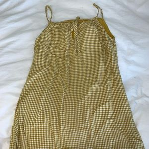 Urban Outfitters Yellow Gingham Mini Dress